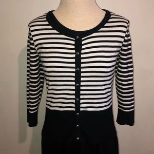 White House Black Market Striped Cardigan